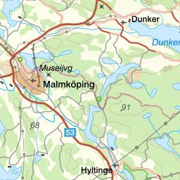malmköping karta Naturkartan malmköping karta